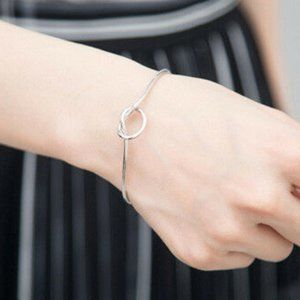 NWOT Silver Knot Bangle Bracelet